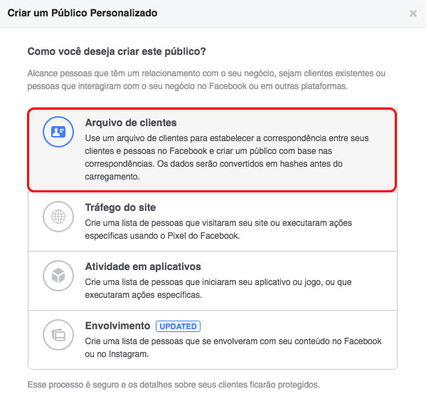 como criar um público personalizado no facebook