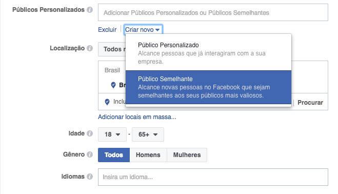 criar público semelhante no Facebook