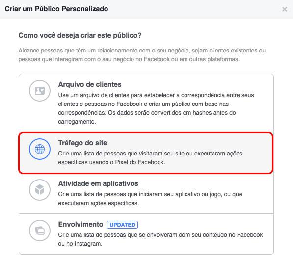 público personalizado no facebook