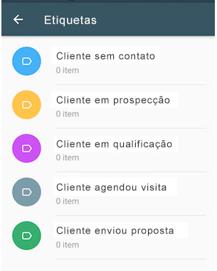 Funcionalidade de etiquetas no WhatsApp Business