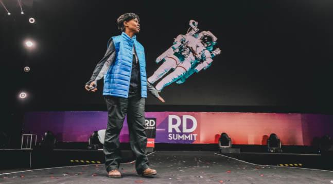 A astronauta da NASA Yvonne Cagle no RD Summit 2018