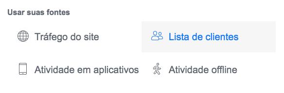 publico personalizado no facebook - lista de clientes